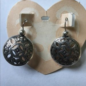 NEW retired Brighton silver scroll earrings